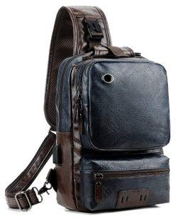 Men Vintage PU Leather Sling bag
