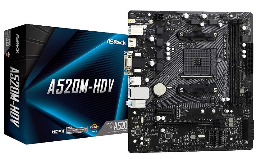ASRock A520M-HDV Motherboard